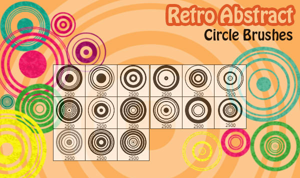 Retro Abstract Circles Brushes