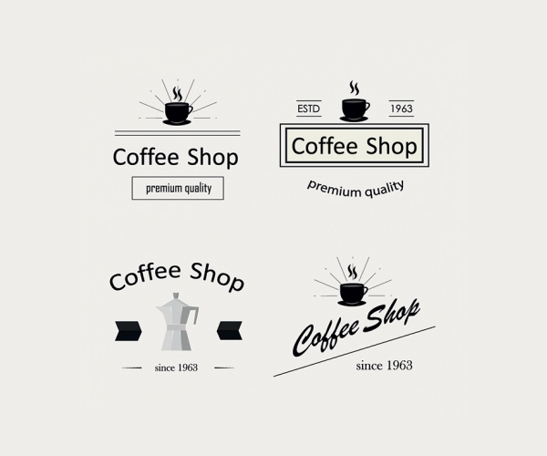 Retro Coffee Logo Types