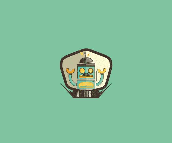 Retro Robot Logo For Free