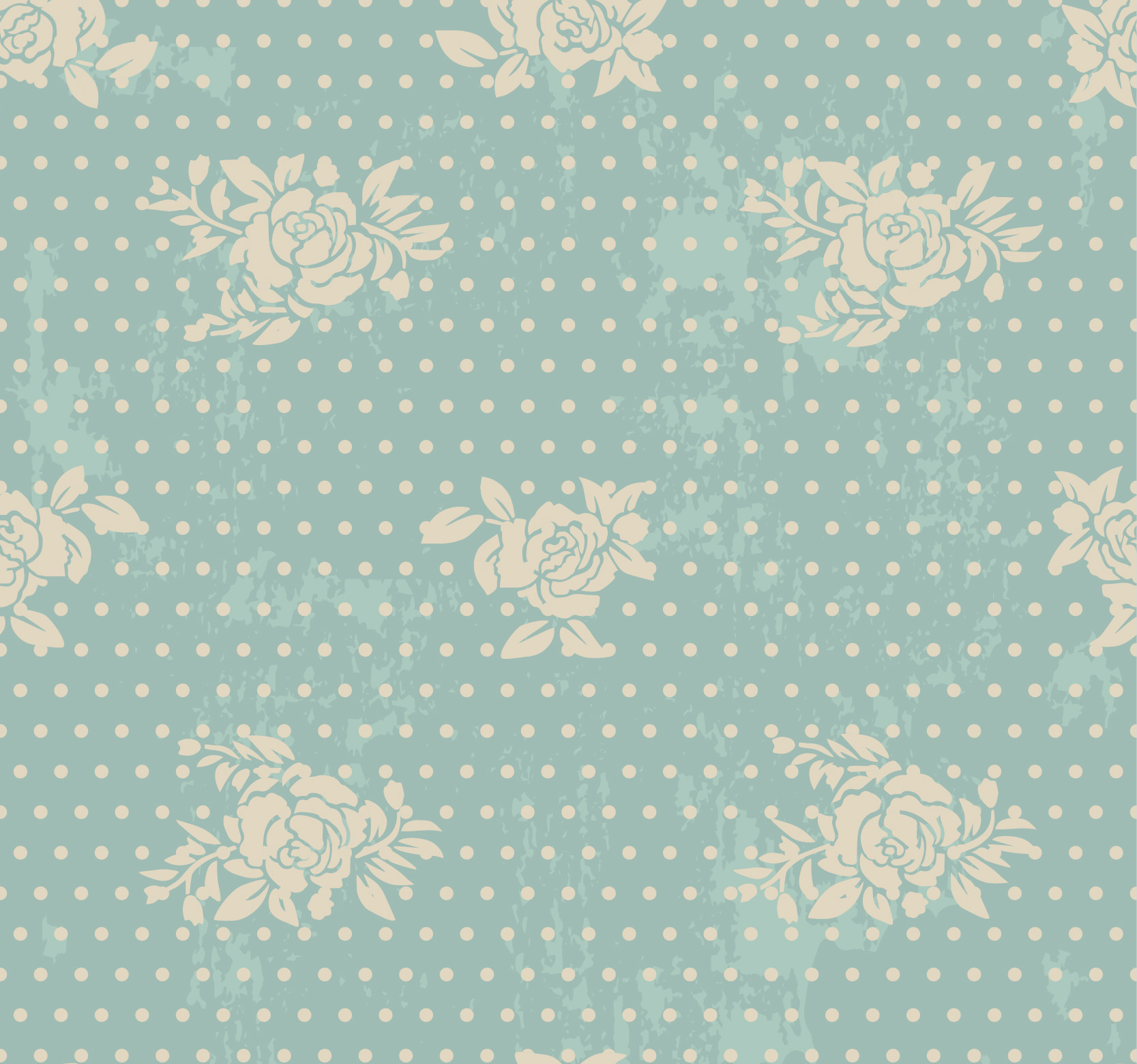 Retro Seamless Floral Patterns