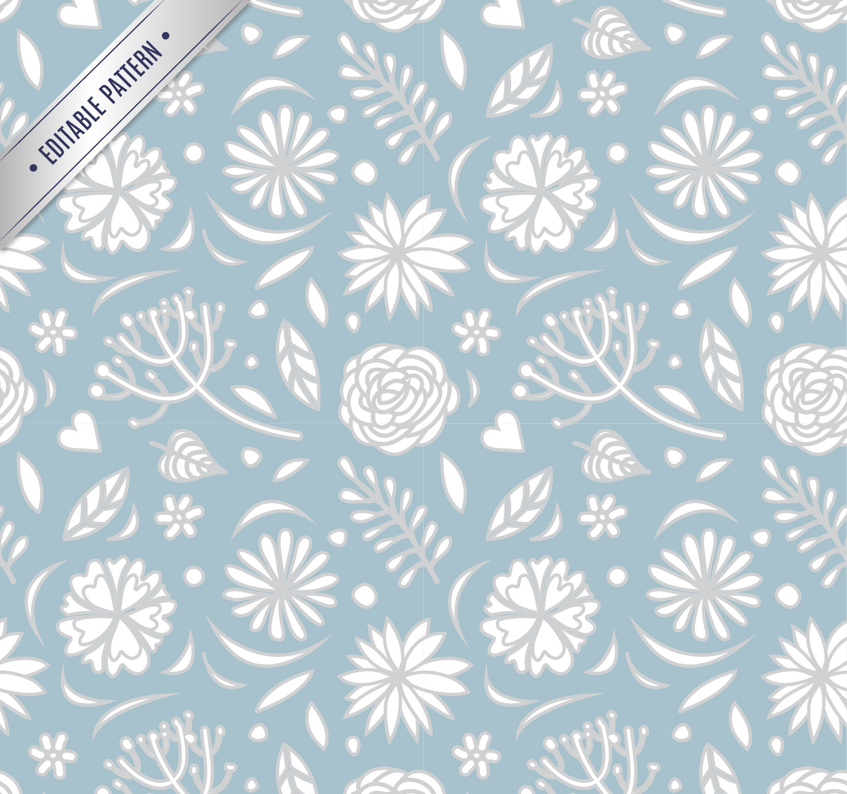 Retro floral pattern Free Vector