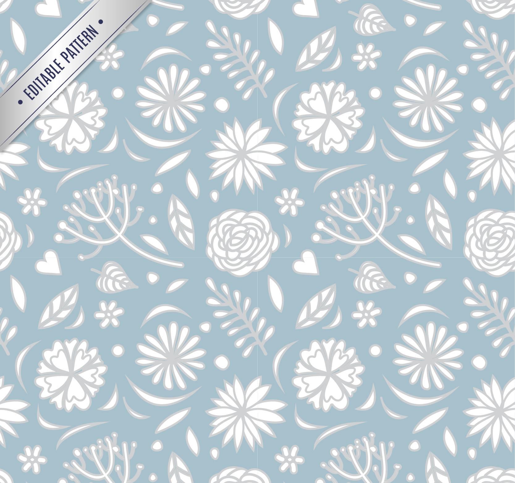 Free 20 Vintage Floral Patterns In Psd
