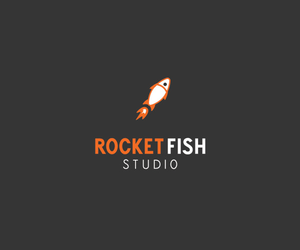 Rocket Fish Logo Design For Free Downlaod