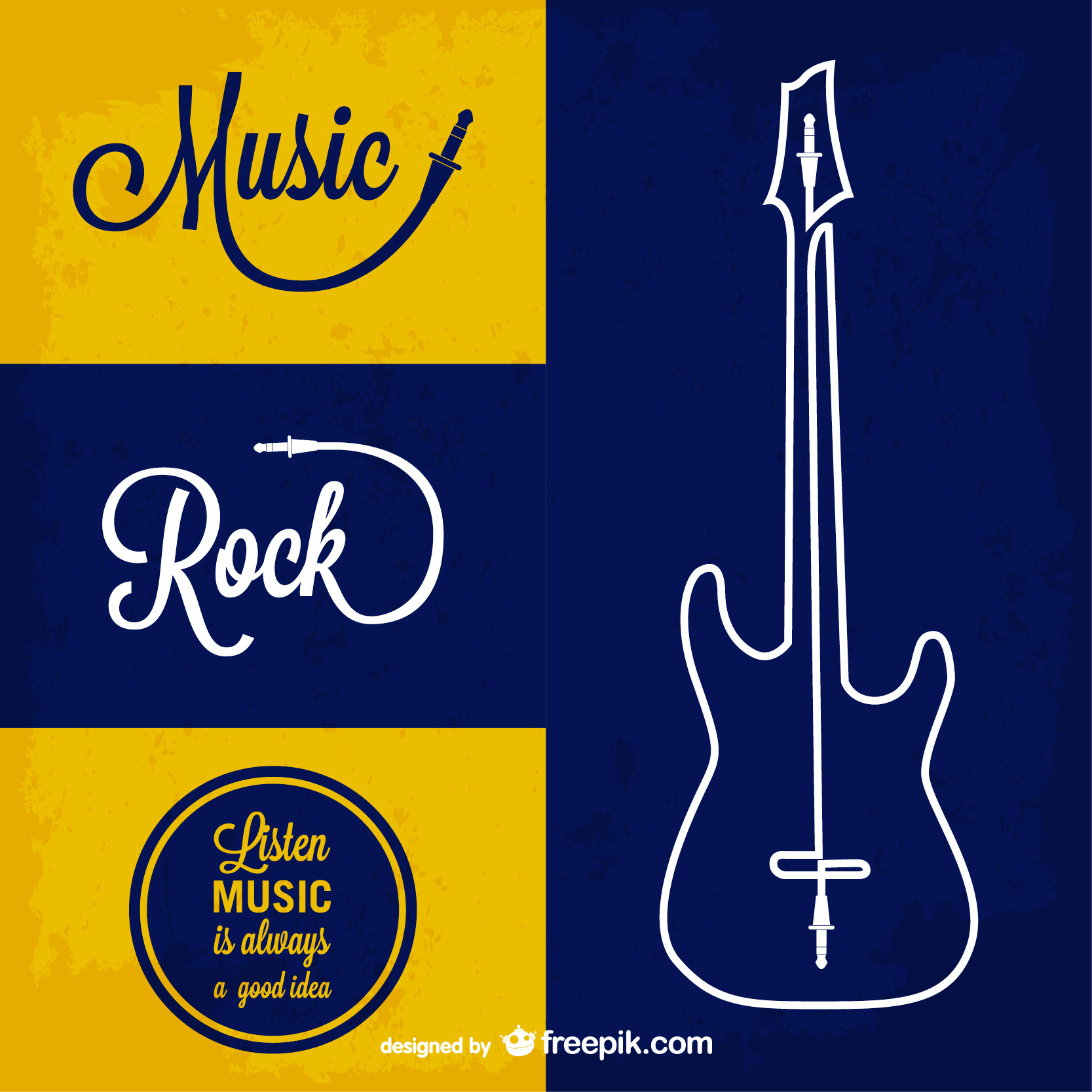 Rocking Music Free vector Background
