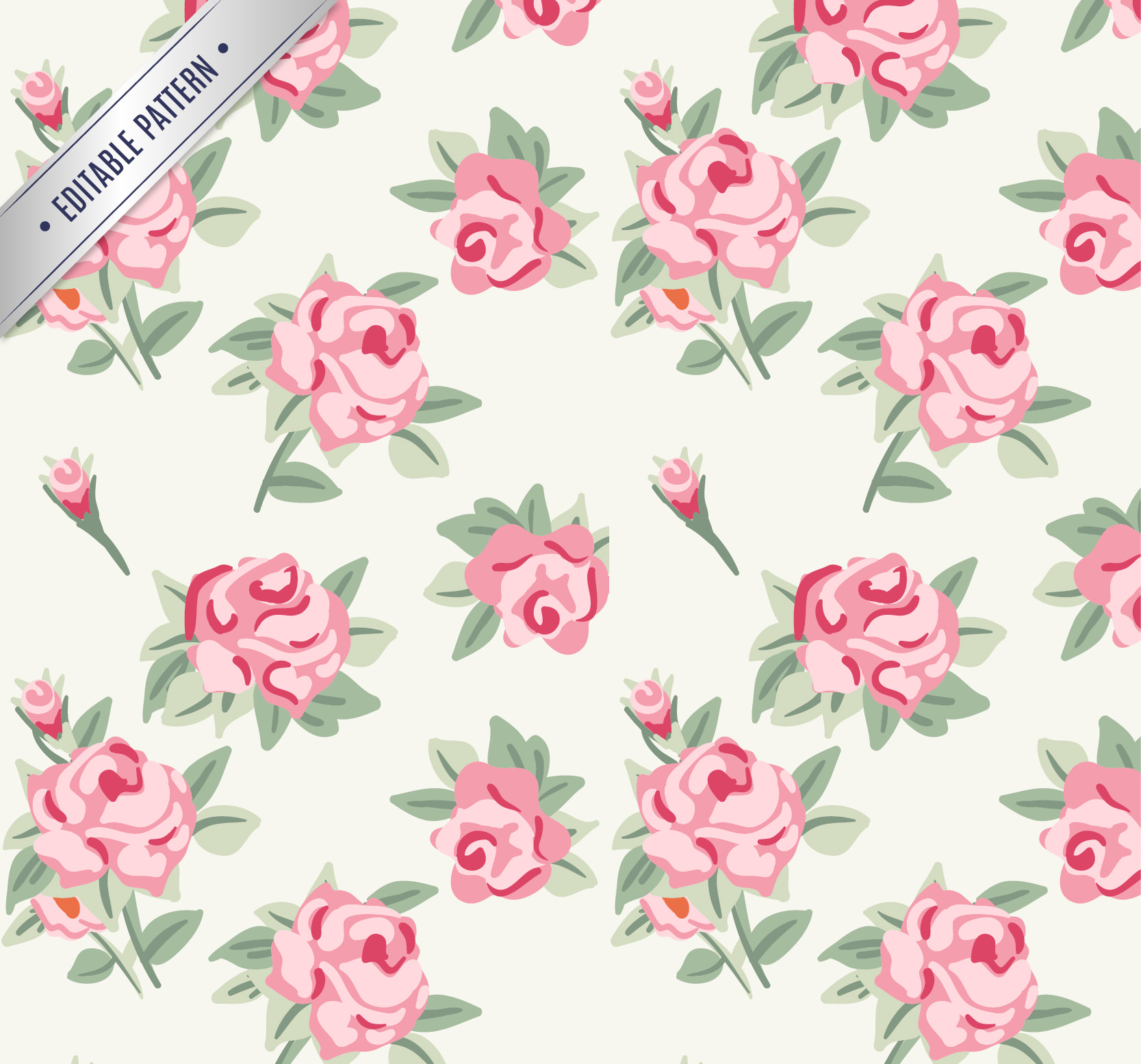 Roses Pattern for Free Download
