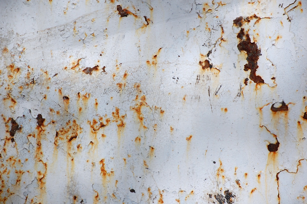 rusted white metal texture