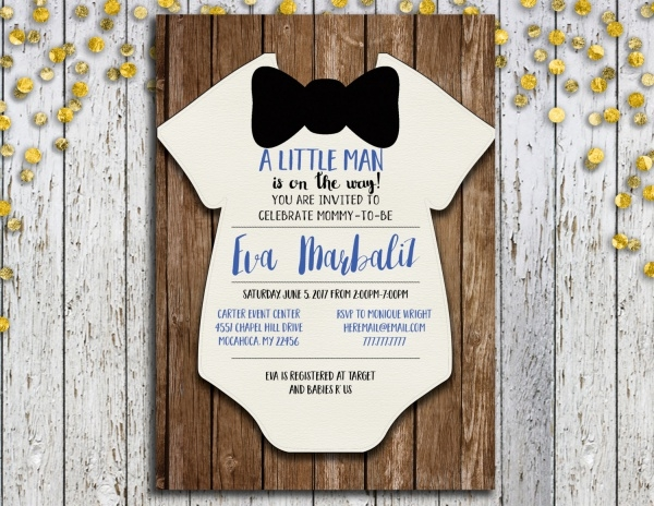 Rustic Wooden Baby Shower Invitation