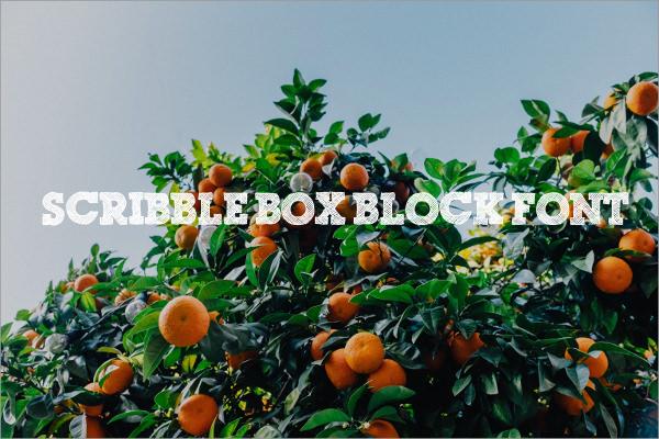 Scribble Box Block Font