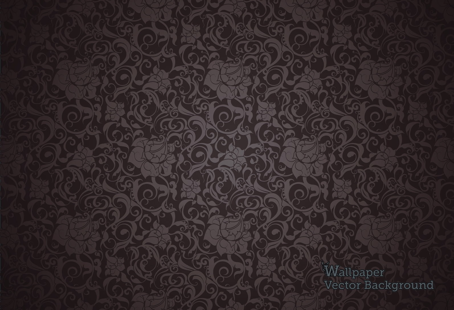 10 dark floral wallpapers floral patterns freecreatives for Black and grey wallpaper designs