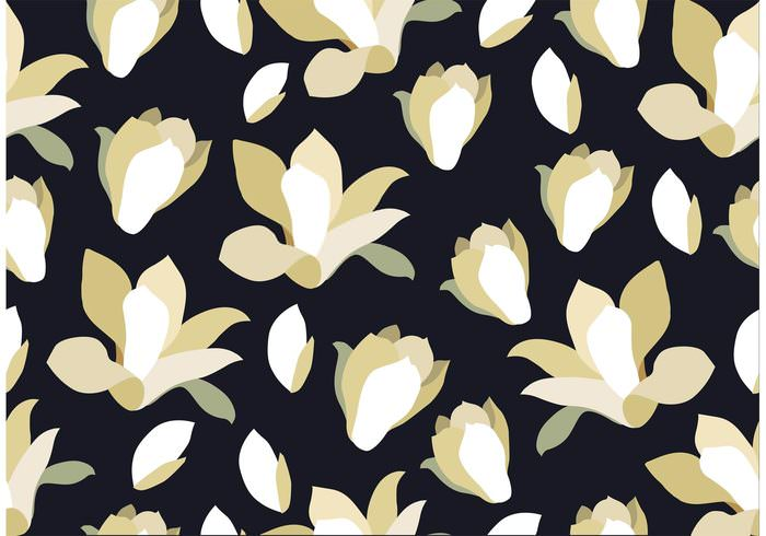 Seamless Black and White Floral Pattern Background