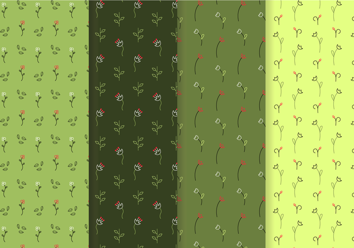 Seamless Free Floral Patterns