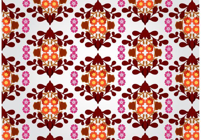 Seamless Free Vintage Floral Pattern Wallpaper