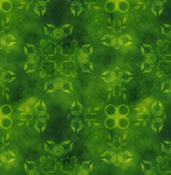 seamless green floral patterns set