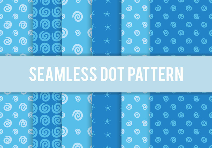 Seamless Polka Dot Pattern in Blue Theme