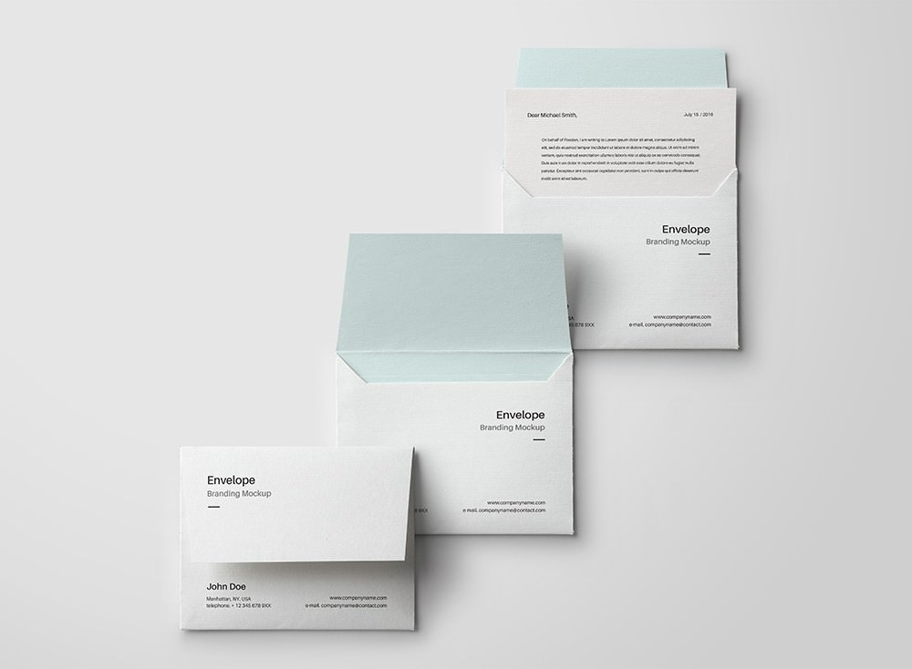 Set of Envelope Mockups