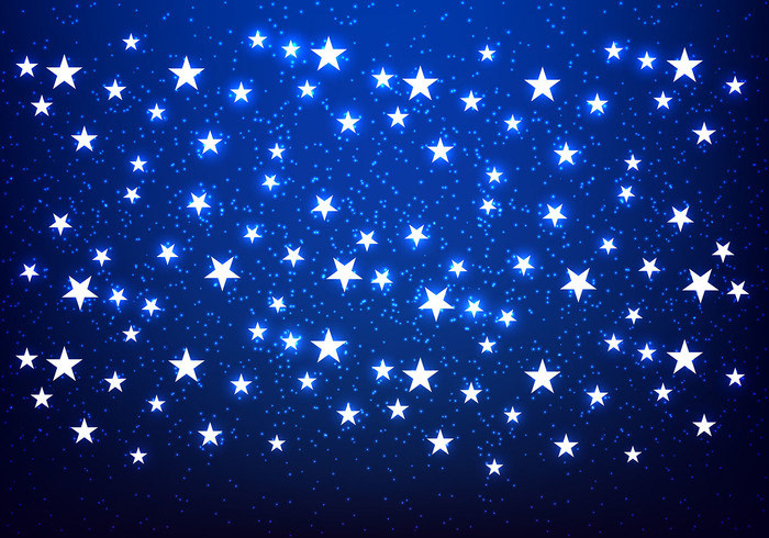 Shiny Stars Navy Blue Background For You