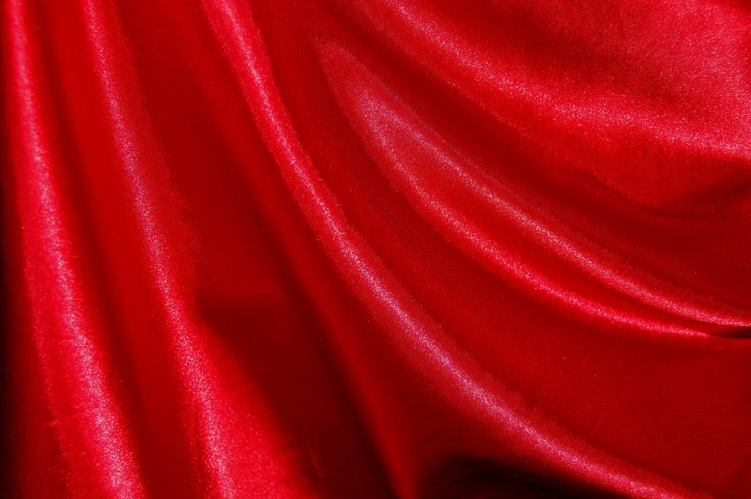 Silk and Lace Red Fabric Texture