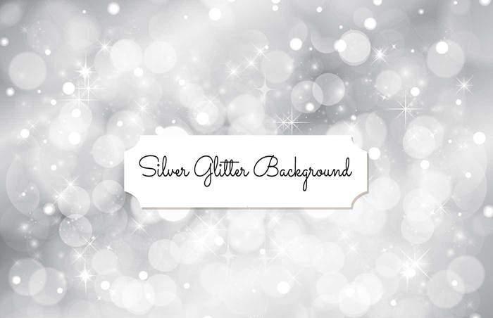 Silver Glitter Background Illustration