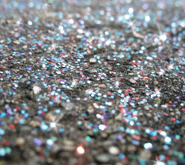 Silver Glitter Sparkles Background