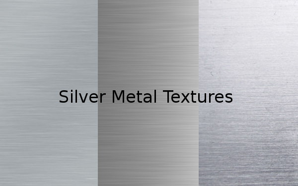 silver metal textures