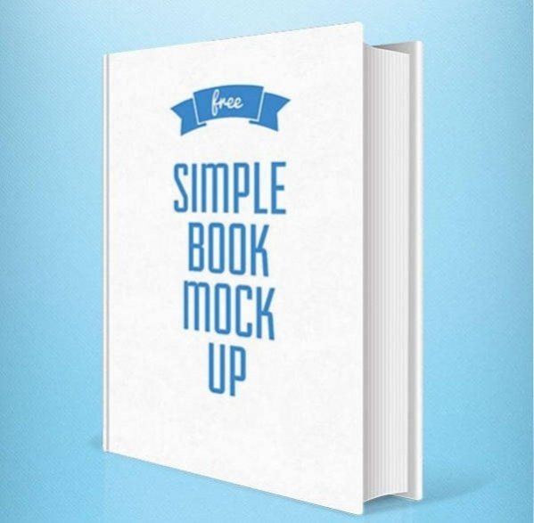 Simple Book Cover Mockup PSD for Free Download 2