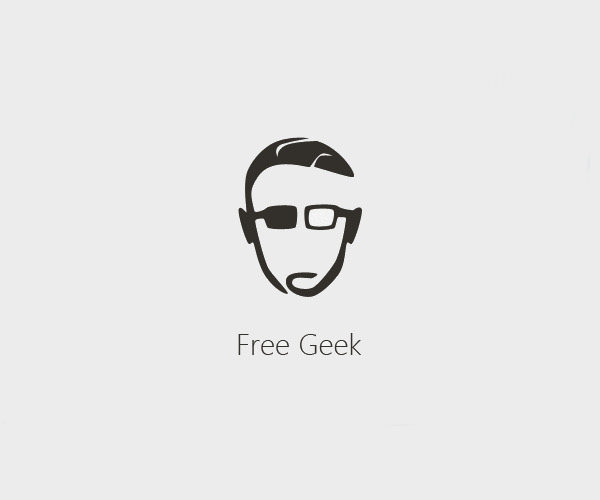 Simple Geek Logo Design For Free