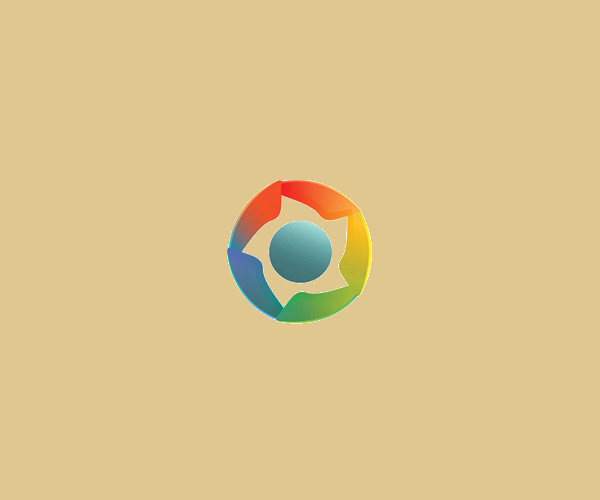 Simple Multicolor Logo Design For Free