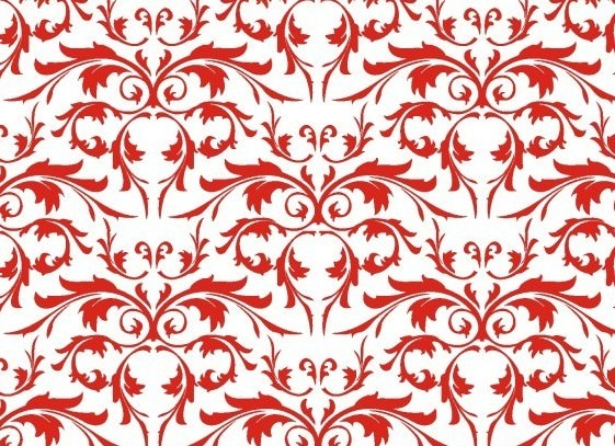 Simple Red Floral Vector Pattern