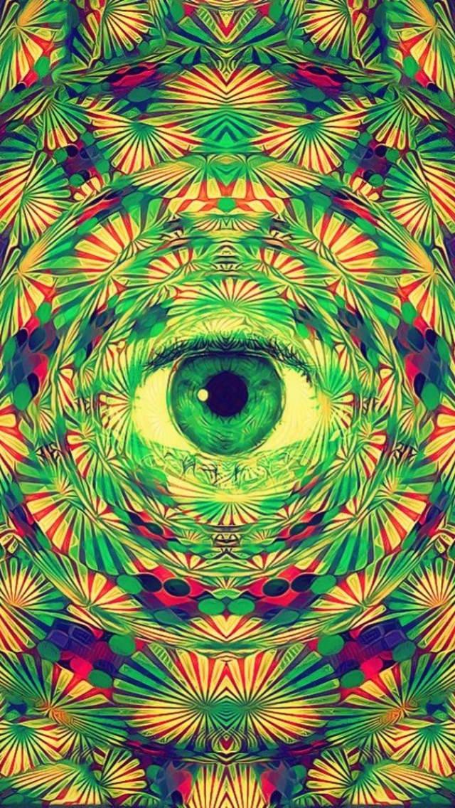 Single Eyed Trippy iPhone 5 Background