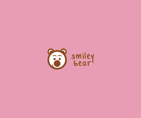 Smiley Teddy Bear Logo Design For Free