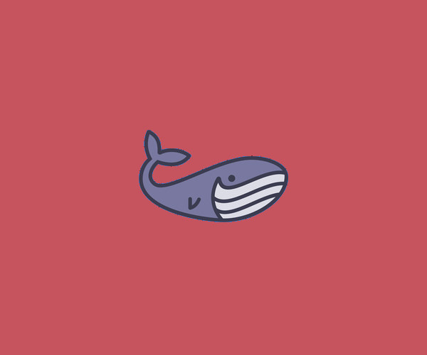 Smiling Whale Logo Design For Free