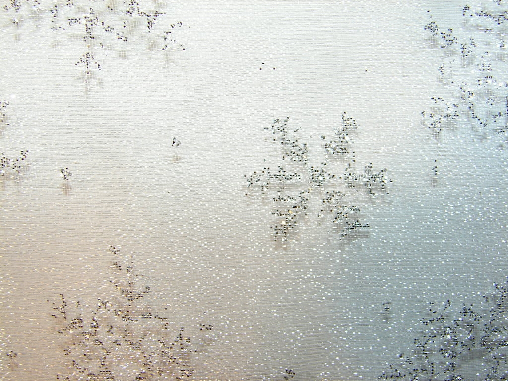 Snowflakes White Glittery Background