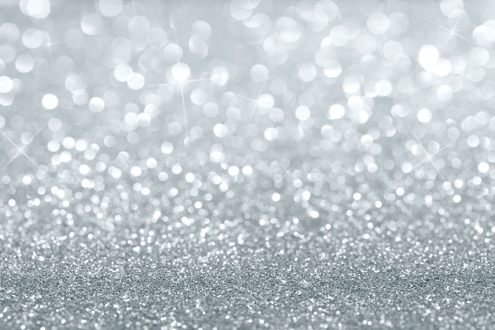 Sparkling White Glitter Desktop Background