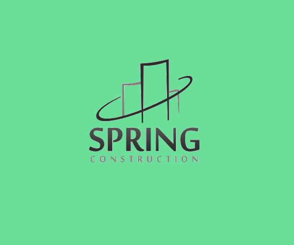 Spring Construction Logo For Free