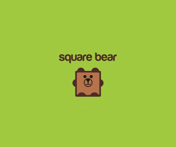 Square Bear Logo Design For free
