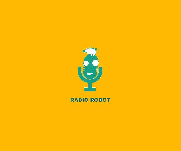 Stunning Radio Robot Logo For Free