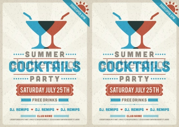 summer holiday party invitation design