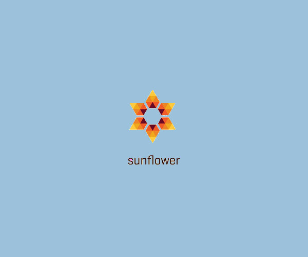 Sun Flower Logo Design For Free