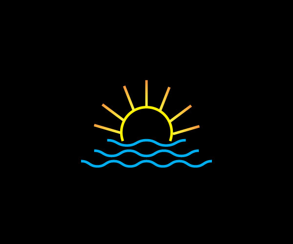 Sun Wave Logo Design For Free