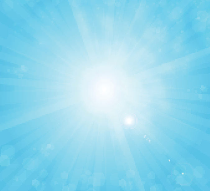 Sun on Blue Sky Background Free Vector