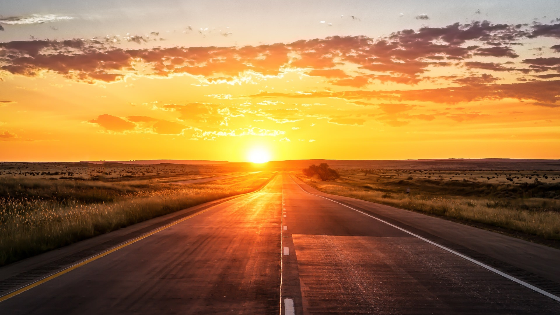 Sunset Road Background For Free
