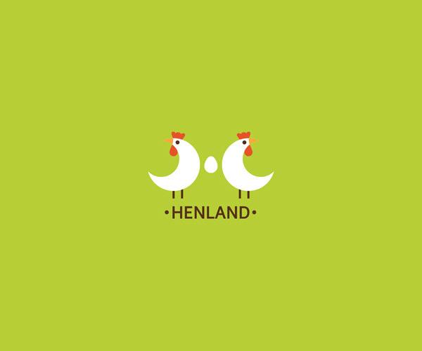 Symmetric Hen Logo Design For Free