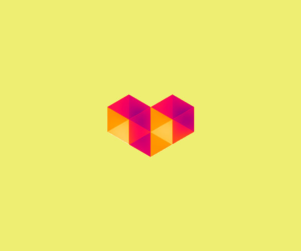 Symmetric Love Logo Design For Free