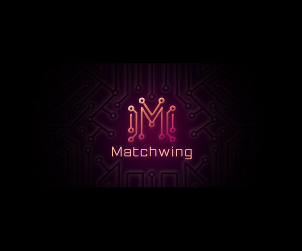Symmetric Match Wing Logo Design For Free