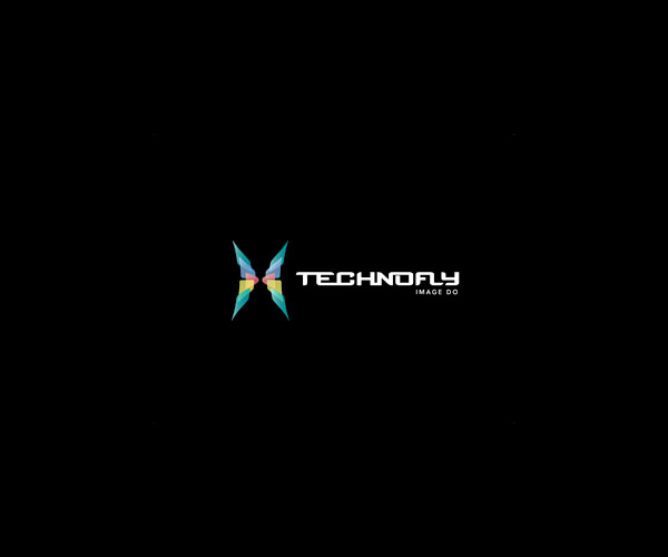 Symmetric Technofly Logo Design For free