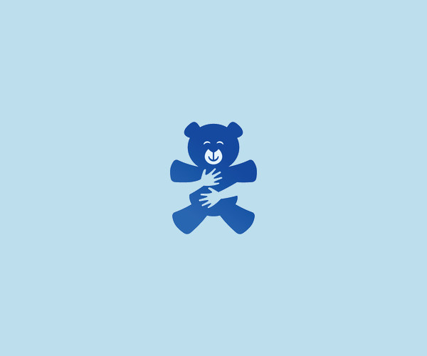 Teddy Bear Hug Logo Design For Free