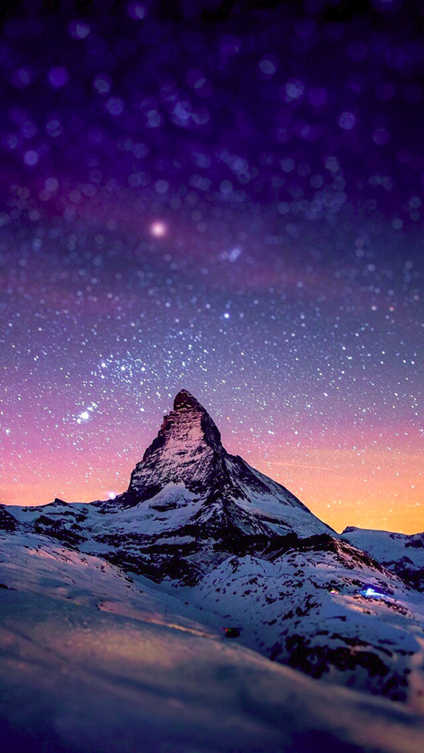 The Stars At Night iPhone 5c Background