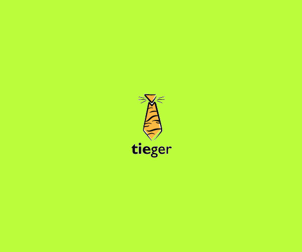 Tiger Tie Logo Design For Free Download