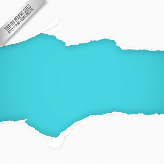 Torn Paper Blue & White Background Free Vector