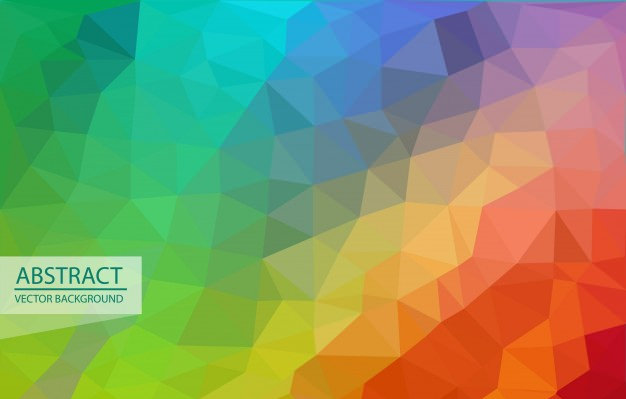 Triangle Deisgn Rainbow Pattern Free Vector